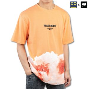 Colegacy X AD Jeans Men Oversize Slogan Floral Graphic Tee