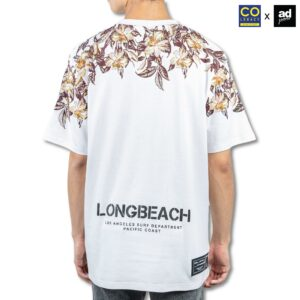 Colegacy X AD Jeans Men Oversize Shoulder Floral Print Graphic Tee