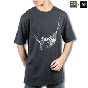 Colegacy X AD Jeans Men Oversize Word Bag Graphic Tee