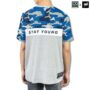 Colegacy X AD Jeans Men Oversize Army Colour Block Letter Tee