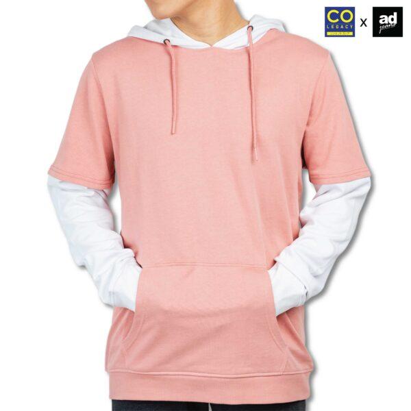 Colegacy X AD Jeans Men Long Sleeve Colour Block Hoodie