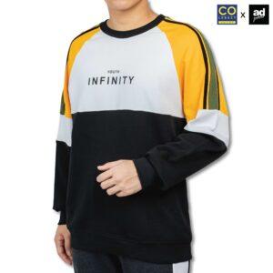 Colegacy X AD Jeans Men Colour Block Cotton Long Sleeve Sweater