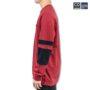 Colegacy Men Cotton Long Sleeve Colour Block Sweater