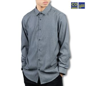 Colegacy X AD Jeans Men Plain Button Mid Long Sleeve Shirt