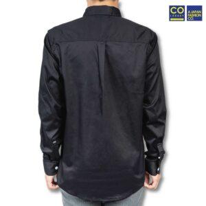 Colegacy Men Collar Button Mid 3/4 Sleeve Shirt