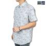 Colegacy Men Floral Design Short Sleeve Button Mid Shirt
