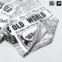 Colegacy X AD Jeans Men Oversize Newspaper Graphic Tee