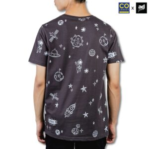 Colegacy X AD Jeans Men Oversize Cotton Space Graphic Tee