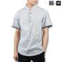 Colegacy X AD Jeans Men Stripe Collar Short Sleeve Shirt
