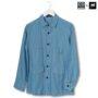 Colegacy X AD Jeans Men Denim Collar Button Mid Long Sleeve Shirt