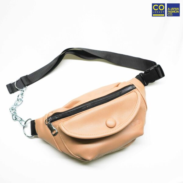 Colegacy Signature Button Lock Casual Chain Waist Pack