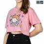 Colegacy Women Crop Top Cartoon Print T-Shirt