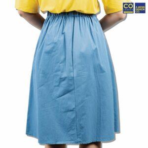 Colegacy Women Plain Basic Midi Skirt