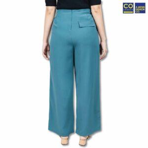 Colegacy Women Plain Wide Leg Long Pants