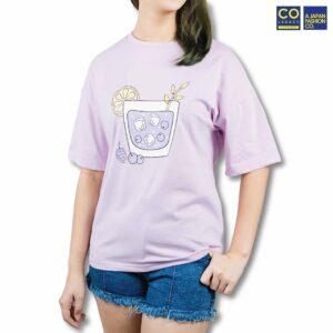 Colegacy Women Plain Colour Cartoon T-Shirt
