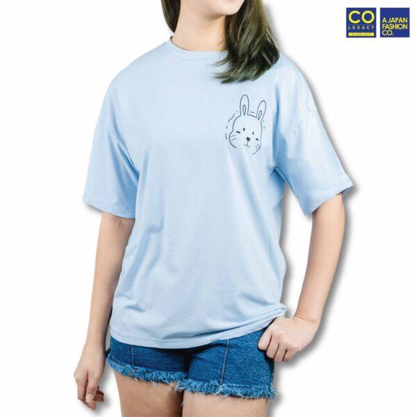 Colegacy Women Plain Colour Cartoon Logo T-Shirt