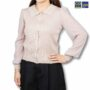 Colegacy Women Long Sleeve Collared Cotton Blouse