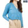 Colegacy Women Cotton V-Neck Long Sleeve Blouse