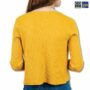 Colegacy Women Cotton Button Mid Long Sleeve Cardigans