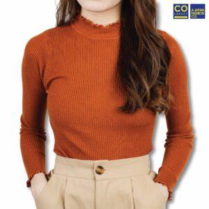 Colegacy Women Basic Long Sleeve Cotton Blouse