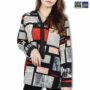 Colegacy Women Long Sleeve Collared Graphic Shirt