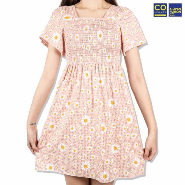 Colegacy Women Floral Short Sleeve Dress