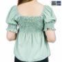 Colegacy Women Square Neck Short Sleeve Blouse