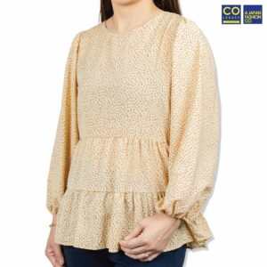 Colegacy Women Floral Round-Neck Long SlColegacy Women Floral Round-Neck Long Sleeve Blouseeeve Blouse
