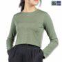 Colegacy Women Basic Long Sleeve Plain Blouse