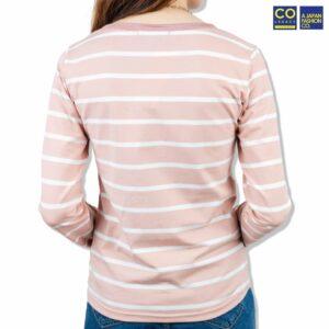 Colegacy Women Stripe Long Sleeve Blouse