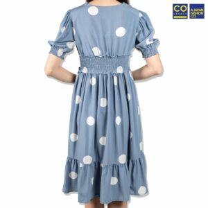 Colegacy Women Polka Dotted Midi Dress