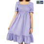 Colegacy Women Flare Hem Plain Midi Dress