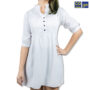 Colegacy Women Button Mid Short Sleeve Midi Dress