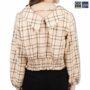 Colegacy Women Plaid Collared Long Sleeve Shirt