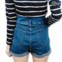 Colegacy Women Denim Buttom Mid Short